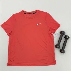 Nike Pink Running Shirt Sleeve Mesh Shirt Large